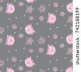 cute baby pattern | Shutterstock .eps vector #742188199