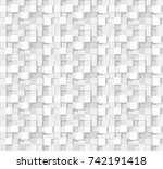 abstract 3 d white geometrical... | Shutterstock .eps vector #742191418