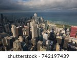 rooftop view with the dramatic... | Shutterstock . vector #742197439