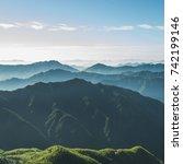 sunrise mountains   Shutterstock . vector #742199146