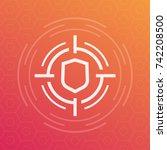 security breach vector icon | Shutterstock .eps vector #742208500