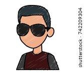 boy faceless cartoon | Shutterstock .eps vector #742209304