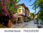 ottoman houses on the main... | Shutterstock . vector #742210150