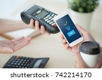 mobile payment  online shopping ... | Shutterstock . vector #742214170