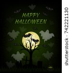 happy halloween. vector card. | Shutterstock .eps vector #742221130