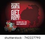 secret santa background with... | Shutterstock .eps vector #742227793