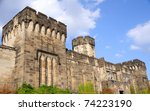 Outer Walls of Historic Eastern State Penitentiary in Philadelphia - stock photo