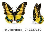 set of colorful realistic... | Shutterstock .eps vector #742237150