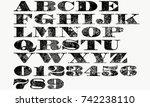 crack alphabet vector | Shutterstock .eps vector #742238110