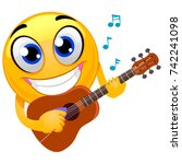 vector illustration of smiley... | Shutterstock .eps vector #742241098