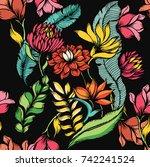 abstract elegance seamless... | Shutterstock .eps vector #742241524