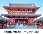 Stock photo kaminarimon of sensoji in asakusa tokyo japan 742244200