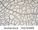 dry soid after flood. crack... | Shutterstock . vector #742253089