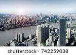 modern metropolis skyline ... | Shutterstock . vector #742259038