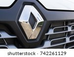 Small photo of PRAGUE, CZECH REPUBLIC - OCTOBER 25: Renault company logo on car on October 25, 2017 in Prague. Renault beat expectations when sales jumped 15.9 per cent in the third quarter.