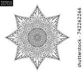 vector indian mandala | Shutterstock .eps vector #742262266