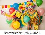 Two Cheerful Clowns. Birthday...
