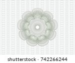 green abstract linear rosette   Shutterstock .eps vector #742266244