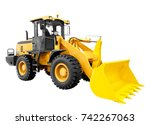 modern yellow loader bulldozer...