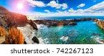 nature scenic seascape in... | Shutterstock . vector #742267123