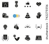 vector set of icons related to... | Shutterstock .eps vector #742275556