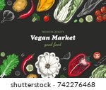 horizontal background with...   Shutterstock .eps vector #742276468