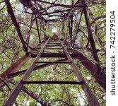 climbing higher  | Shutterstock . vector #742279504