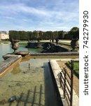 roman gods versailles fountain. ... | Shutterstock . vector #742279930