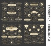 vintage vector ornaments... | Shutterstock .eps vector #742280338