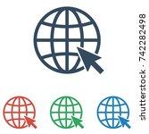 internet icon set. go to web... | Shutterstock .eps vector #742282498