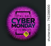 cyber monday sale banner | Shutterstock .eps vector #742288000