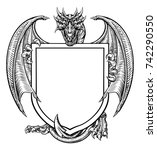 a medieval heraldic coat of... | Shutterstock .eps vector #742290550