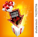 an exciting cyber monday sale... | Shutterstock .eps vector #742290706