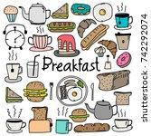hand drawn doodle vector... | Shutterstock .eps vector #742292074