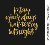 hand written holiday phrase  ... | Shutterstock .eps vector #742294534