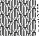 vector seamless pattern.... | Shutterstock .eps vector #742296370
