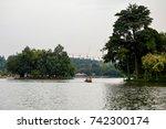 islands in the putrajaya... | Shutterstock . vector #742300174