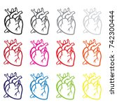 real man heart vector... | Shutterstock .eps vector #742300444