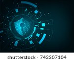 internet technology cyber... | Shutterstock .eps vector #742307104