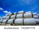 concrete culverts | Shutterstock . vector #742307770