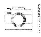 photographic camera icon | Shutterstock .eps vector #742314874
