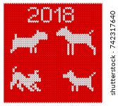 Christmas Pattern Knit. Dog As...
