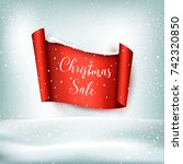 christmas sale | Shutterstock .eps vector #742320850