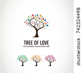 tree logo template | Shutterstock .eps vector #742324498
