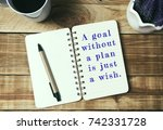 life inspirational quotes   a...   Shutterstock . vector #742331728