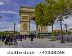 paris  france   october 05 ... | Shutterstock . vector #742338268