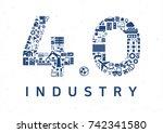 industry 4.0 vector... | Shutterstock .eps vector #742341580