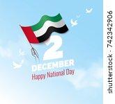 2 december. uae independence... | Shutterstock .eps vector #742342906