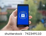 general data protection... | Shutterstock . vector #742349110
