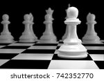 close up of 3d render white... | Shutterstock . vector #742352770
